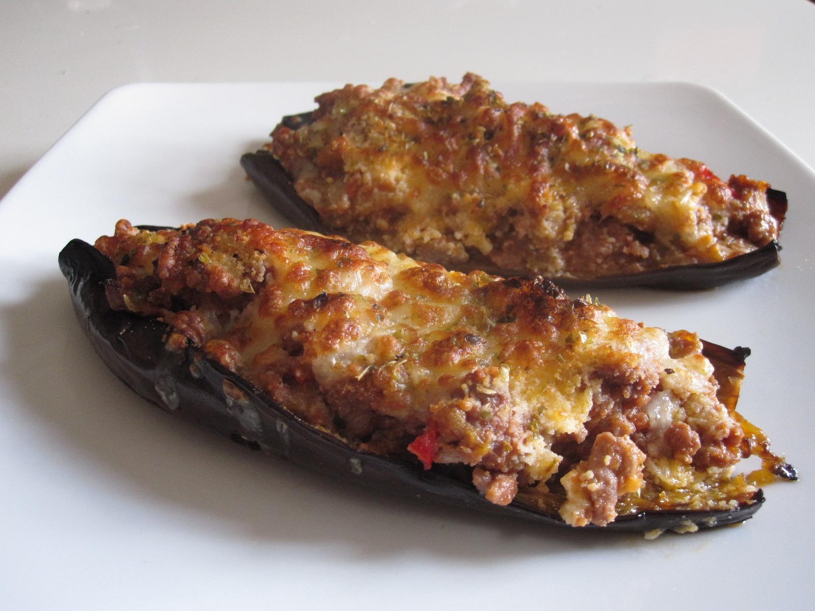 Berenjenas rellenas con carne picada mil recetas - Como cocinar carne picada ...