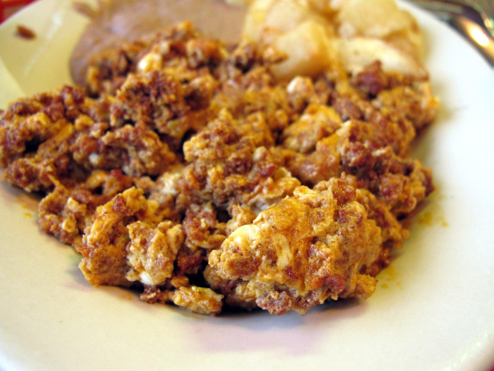 Image Gallery huevos con chorizo