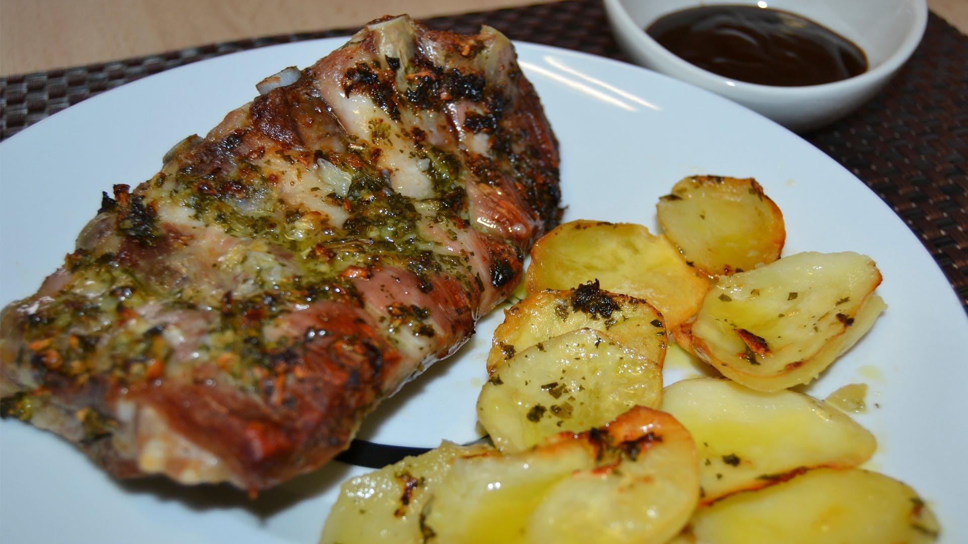 Costillas de res al horno bien jugosas mil recetas for Follando cocina