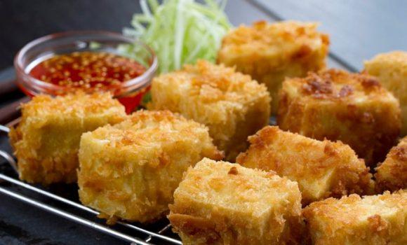 Tofu frito ¡Ideal para vegetarianos!