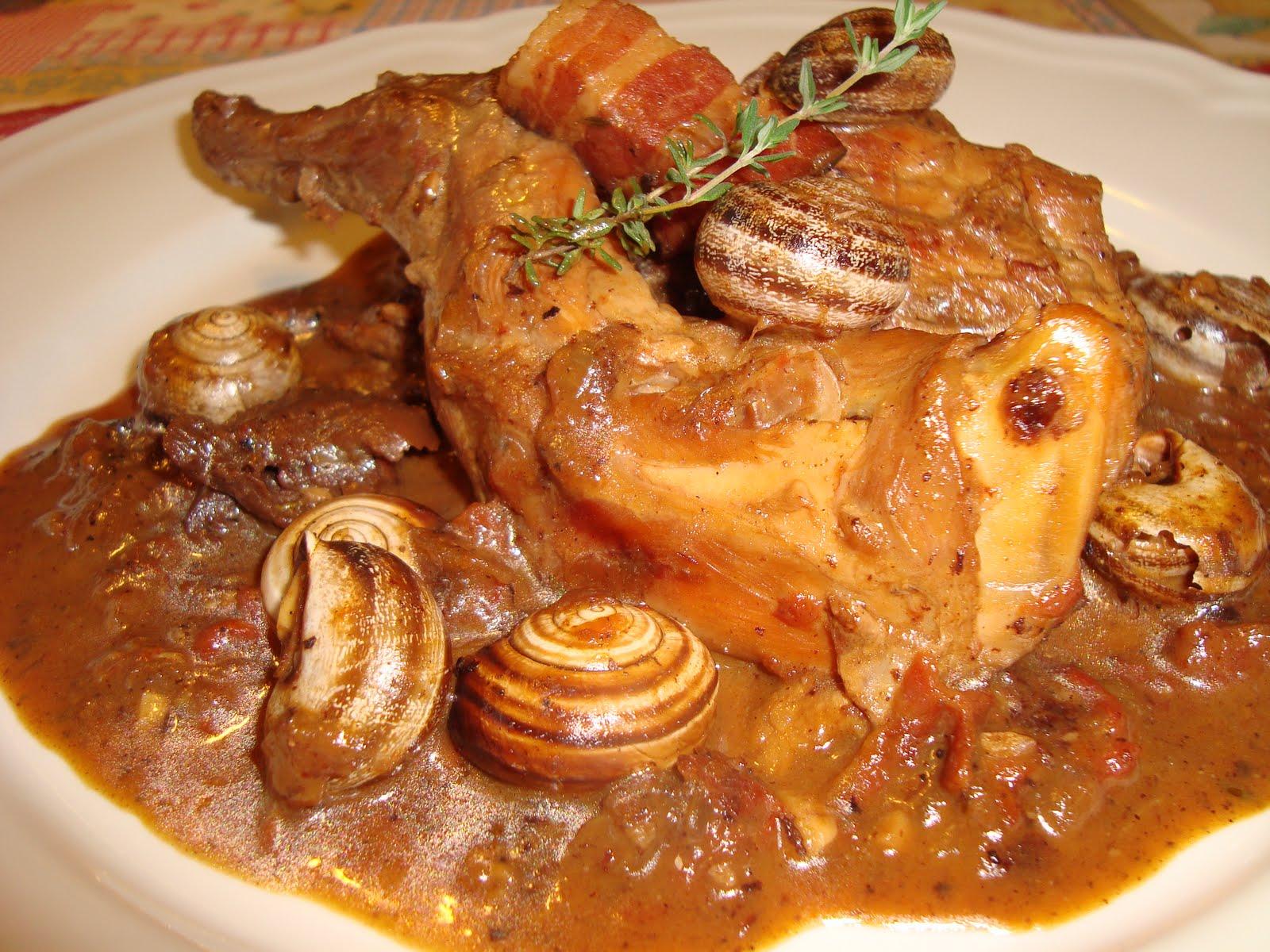 Conejo con caracoles conociendo el sabor de espa a cocina for Cocinar un conejo
