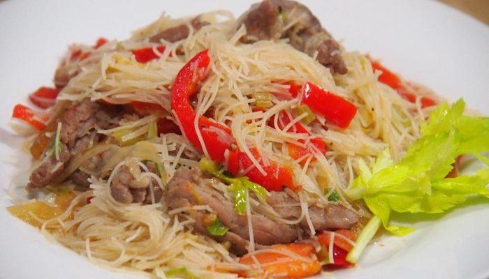 fideos chinos con carne, te encantaran