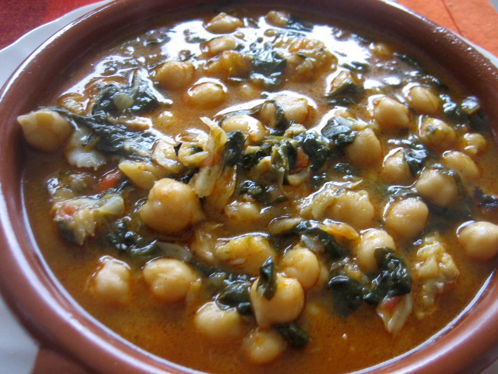Potaje de garbanzos con bacalao 3 variedades deliciosas - Potaje de garbanzos y judias ...